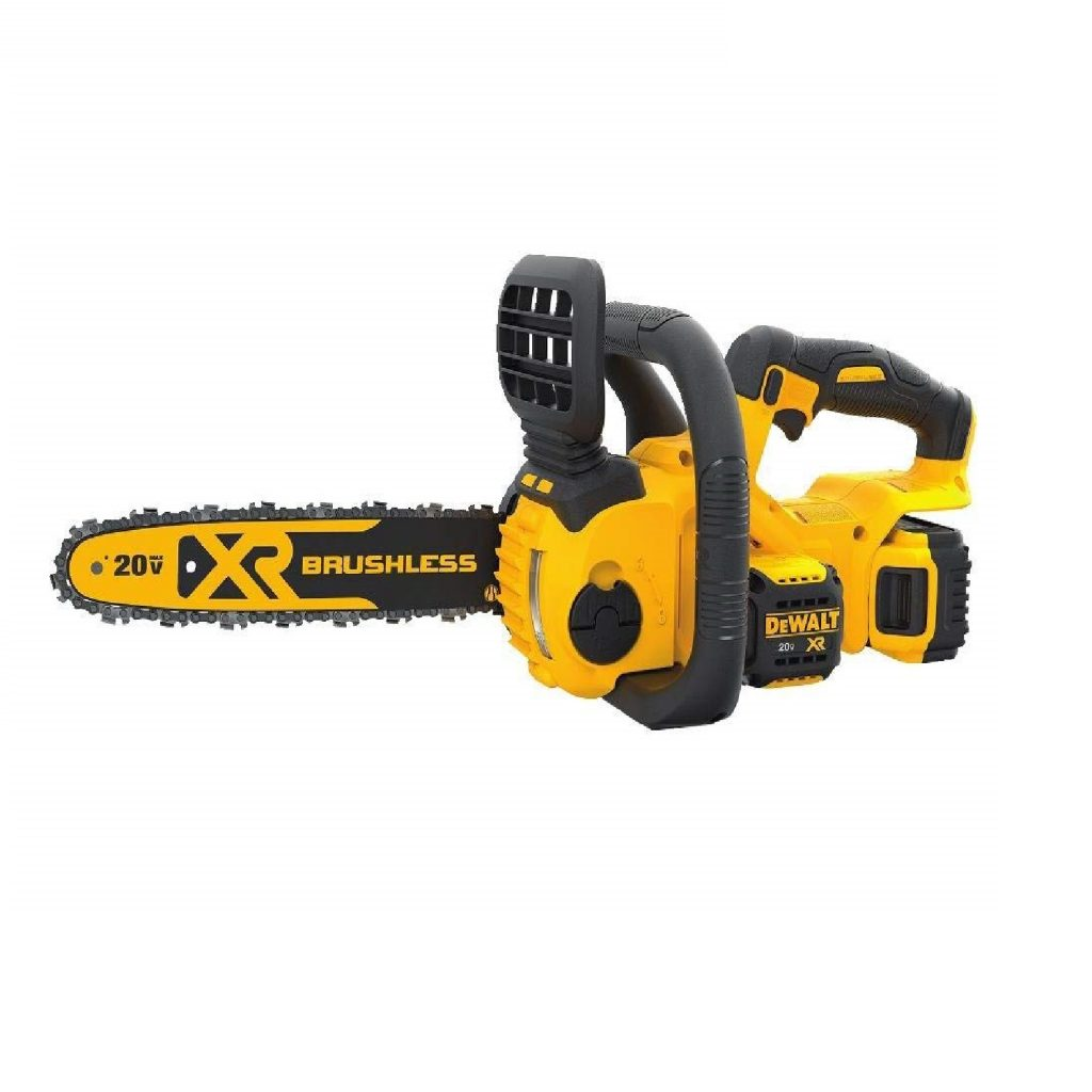 DEWALT DCCS620P1 Lithium-Ion XR Brushless Compact 12 Cordless Chainsaw Kit