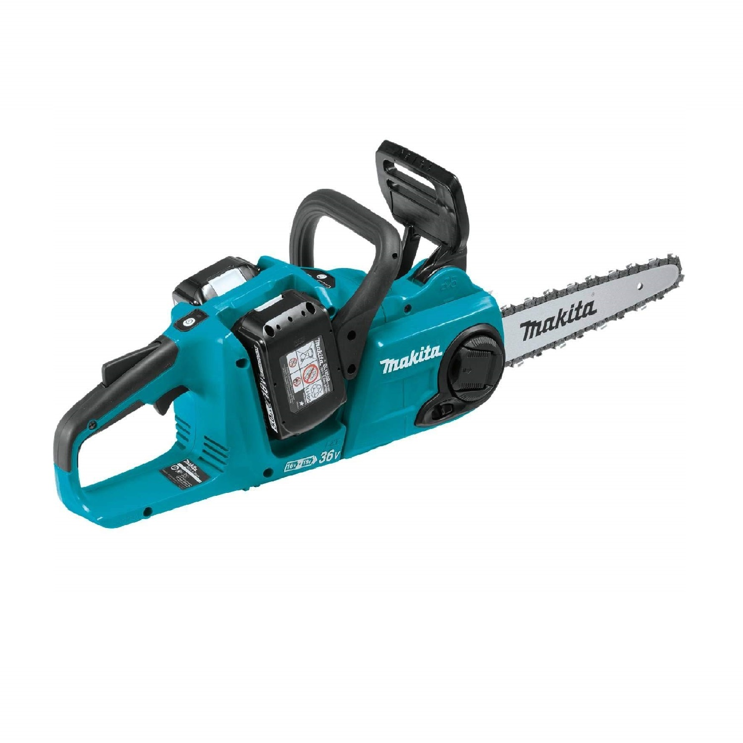 Picture of a turquoise cutting saw